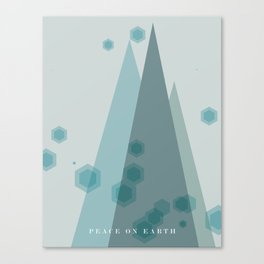 Modern Trees Color Dark Blue Canvas Print
