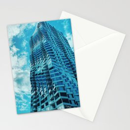Minimalist Building Blue Skies Stationery Cards