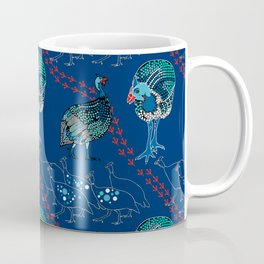 Guinea Fowl on the Run Coffee Mug