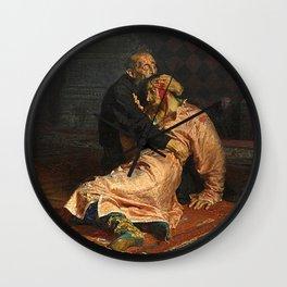 IVAN THE TERRIBLE AND HIS SON IVAN - ILYA REPIN  Wall Clock