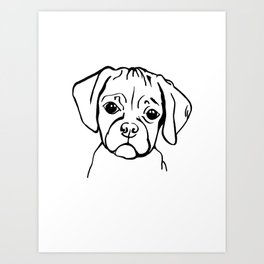Mini the puggle Art Print