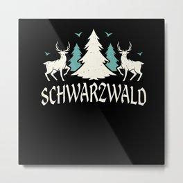 Black Forest Logo Swabia Home Metal Print