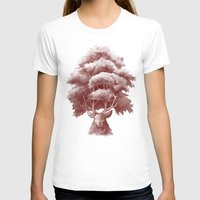thrones T-shirts featuring Old Growth  by Terry Fan