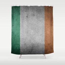 Irish Flag Grunge Shower Curtain