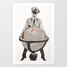 Charles chaplin the great dictator Art Print