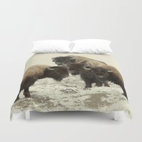 american Duvet Covers featuring American Buffalo by Color and Patterns