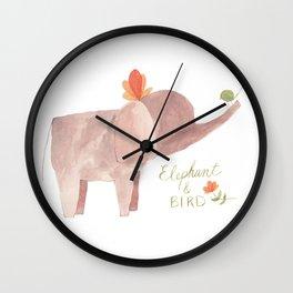 Elephant and Bird Wall Clock