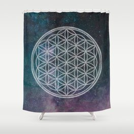 Sacred Geometry Universe 11 Shower Curtain