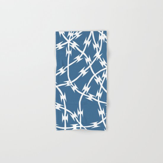 Blue Barb Hand & Bath Towel