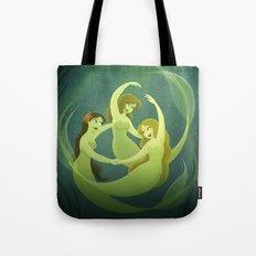 Three Mermaids Tote Bag