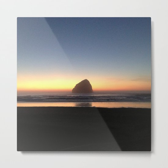 Sunset over the Pacific Metal Print