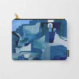 greece santorini abstract illustration Carry-All Pouch