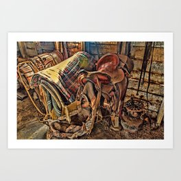 The Old Tack Room Art Print