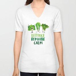 Lettuce Romaine Calm Unisex V-Neck