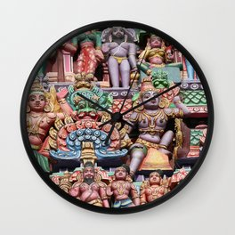 India Hinduism multicolored Temple Design Wall Clock