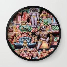 India Hinduism multicolored Temple Design Wall Clock