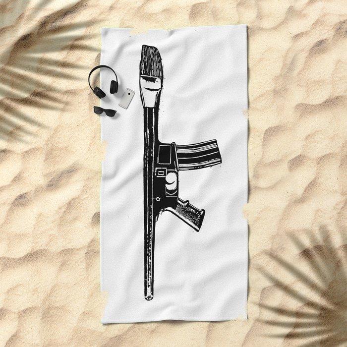 Art War Beach Towel