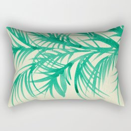Mint Palms Rectangular Pillow