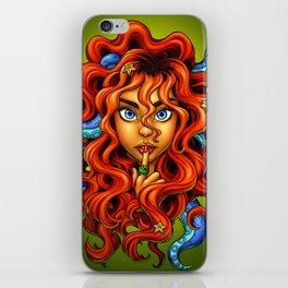 Tentacle Hair Lady- red iPhone Skin