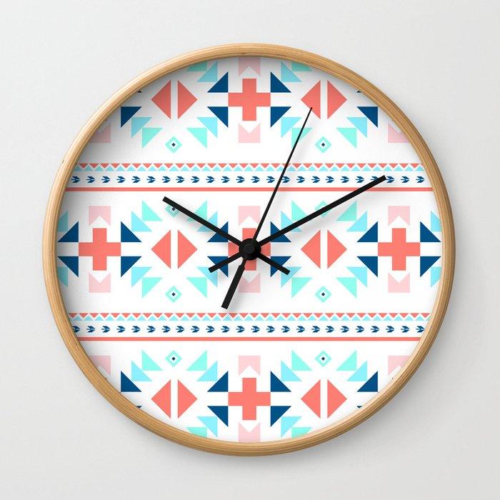 geometry navajo pattern Wall Clock