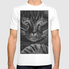 Cool cat White MEDIUM Mens Fitted Tee