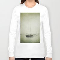 boats Long Sleeve T-shirts featuring Two boats by Victoria Herrera