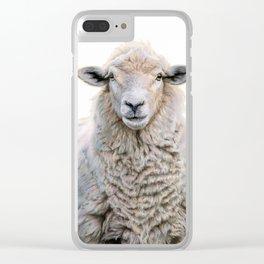 Mona Fleece-a Clear iPhone Case