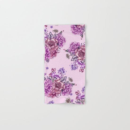 Pink Vintage Florals Hand & Bath Towel