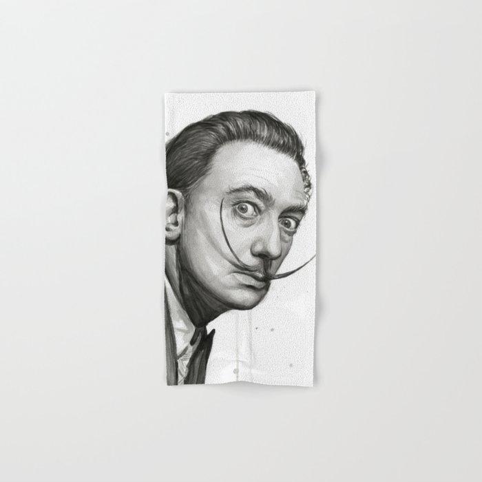 Salvador Dali Watercolor Portrait Hand & Bath Towel