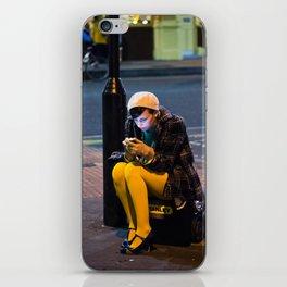Lady in Yellow - Brick Lane, London iPhone Skin