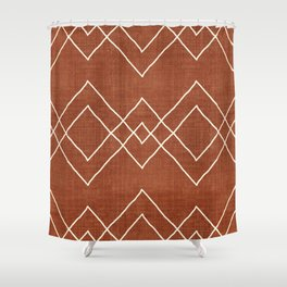 Nudo in Rust Shower Curtain