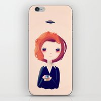 dana scully iPhone & iPod Skins featuring Dana by Nan Lawson