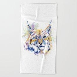 Bobcat Head Beach Towel
