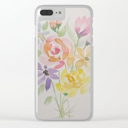 Summer's Final Bouquet Clear iPhone Case
