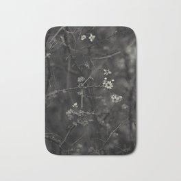 first blossoms - black'n white Bath Mat