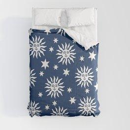 Mid Century Modern Sun and Star Pattern 224 Comforters