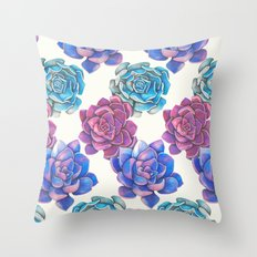Vibrant Succulents  Throw Pillow
