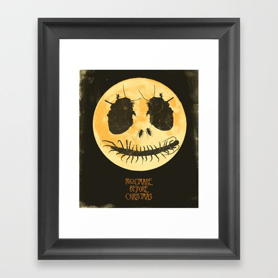 Nightmare Before Christmas - Movie Poster Framed Art Print