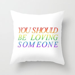 loving someone Throw Pillow