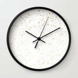 Los Angeles Nights Gold Paint Wall Clock