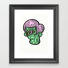 Just chewing Framed Art Print