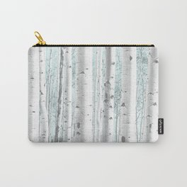 Pale Birch and Blue Carry-All Pouch