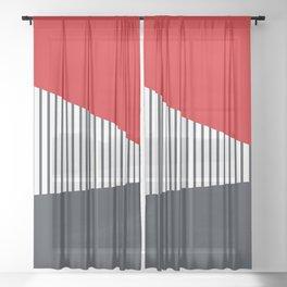 Nautical geometry 6 Sheer Curtain