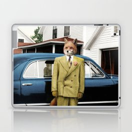 Mr. Fox posing with his new car Laptop & iPad Skin