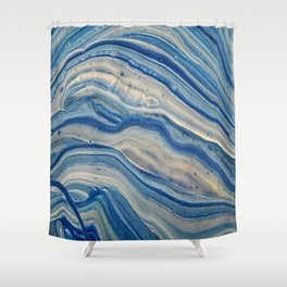 Blue swirls 879 Shower Curtain