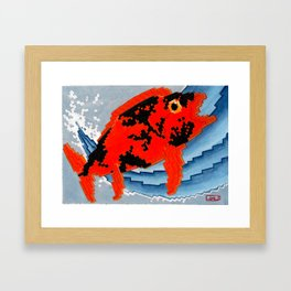 Koi Series, UP/UP/DOWN/DOWN/A/B/A/B/START Framed Art Print