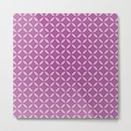 Morroco Mosaic Purple Metal Print