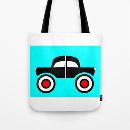 Black Car Two Directions Tote Bag