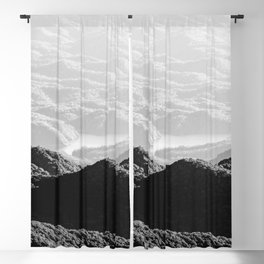 Smoky Mountain Black and White Forest Sunset - 125/365 Blackout Curtain