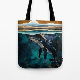 Moonlit Whales Tote Bag
